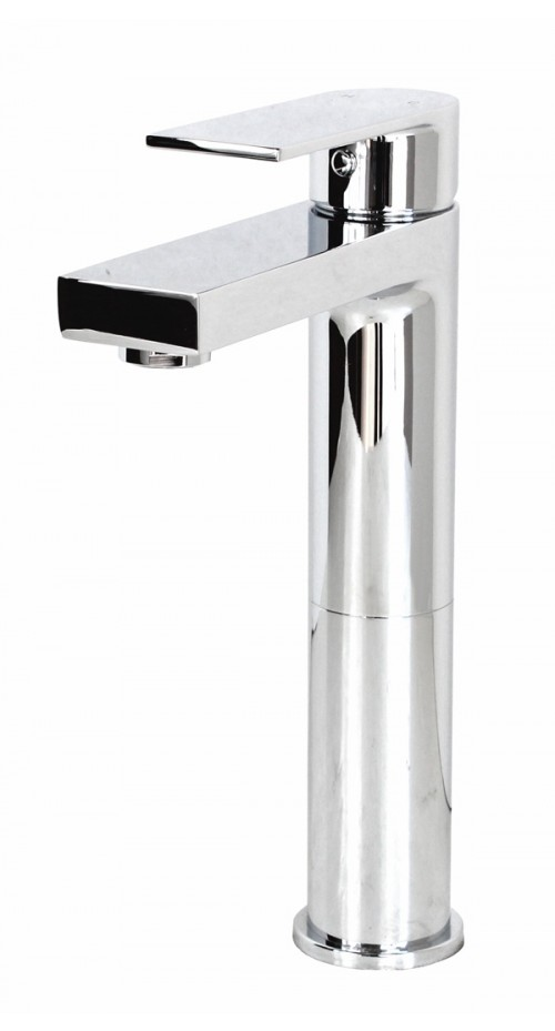 Adrian Polished Chrome Bathroom Vessel Sink Single Hole Faucet