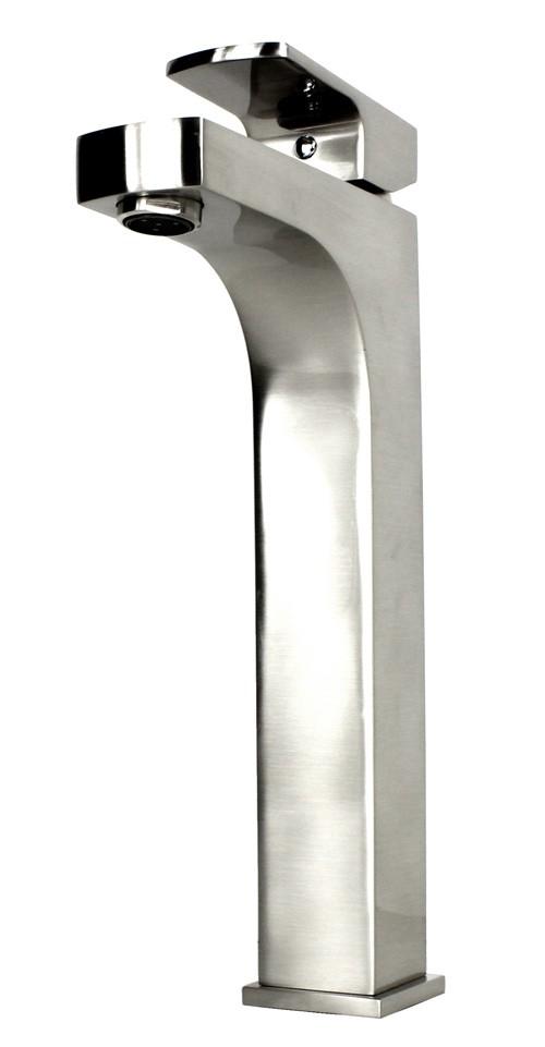 Lewis Brushed Nickel Bathroom Vessel Sink Single Hole Faucet