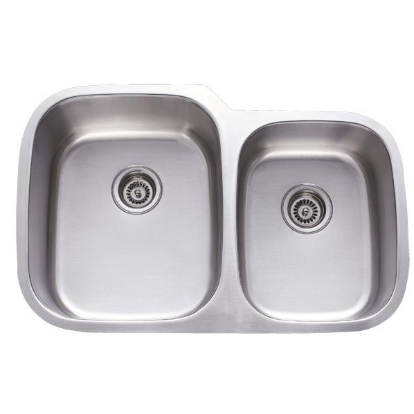 31 Inch Stainless Steel Undermount 60 40 Double Bowl
