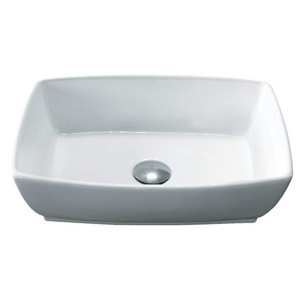 13 Inch Vessel Sink : ... Ceramic Countertop Bathroom Vessel Sink - 18-3/4 x 13-1/2 x 5-1/2 Inch