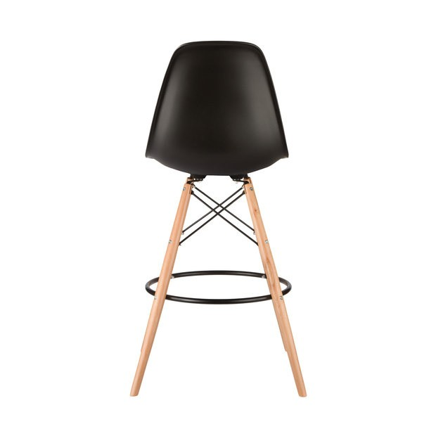 Set of 2 Eames Style DSW Black Plastic 26 Inch Counter  : eames stools black beech leg 65p6 from www.emoderndecor.com size 620 x 620 jpeg 22kB