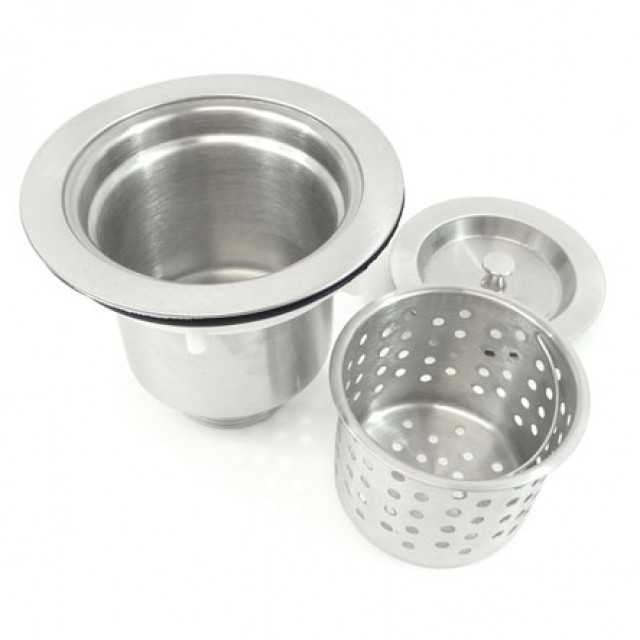 Kitchen / Bar Sink Basket Strainer with Lift Out Basket