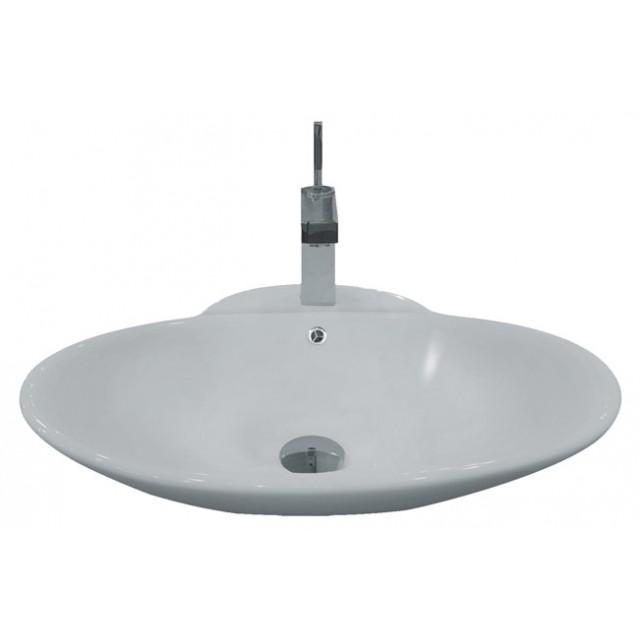 ... Single Hole Countertop Bathroom Vessel Sink - 24-3/4 x 19-1/4 x 8 Inch