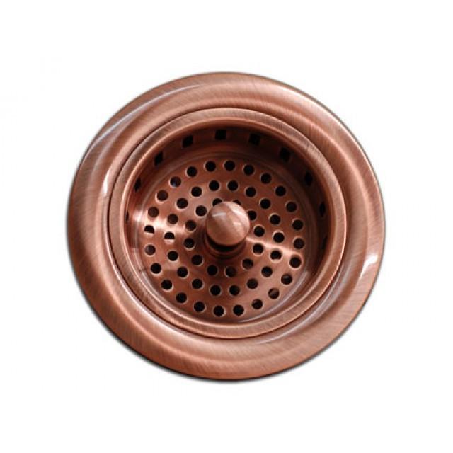 Kitchen Bar Copper Sink Basket Strainer 3 5 Inch