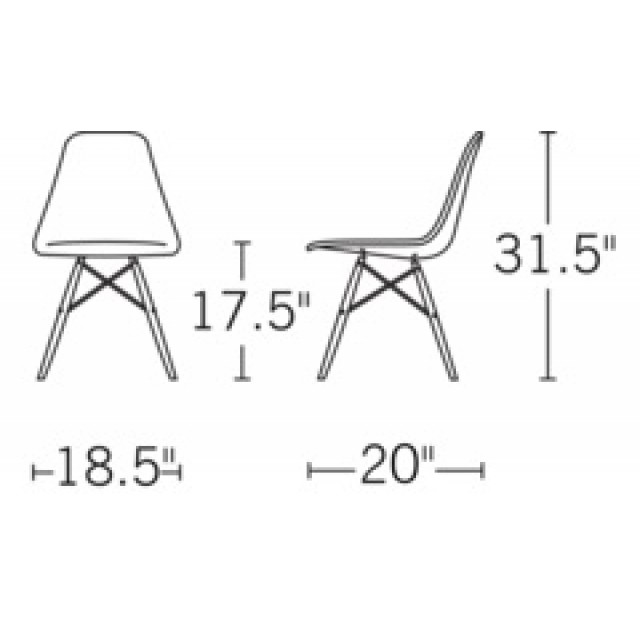 Set Of 4 Eames Style DSW Molded Pink Plastic Dining Shell Chair With Wood  Eiffel Legs