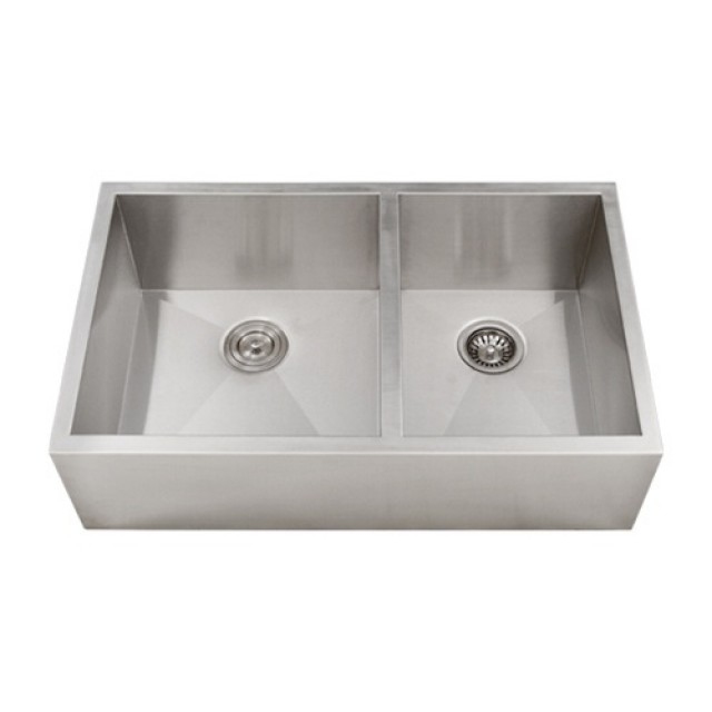 33 inch stainless steel flat front farmhouse apron kitchen sink 60 33 inch stainless steel narrow flat front farmhouse apron kitchen sink 6040 double bowl workwithnaturefo