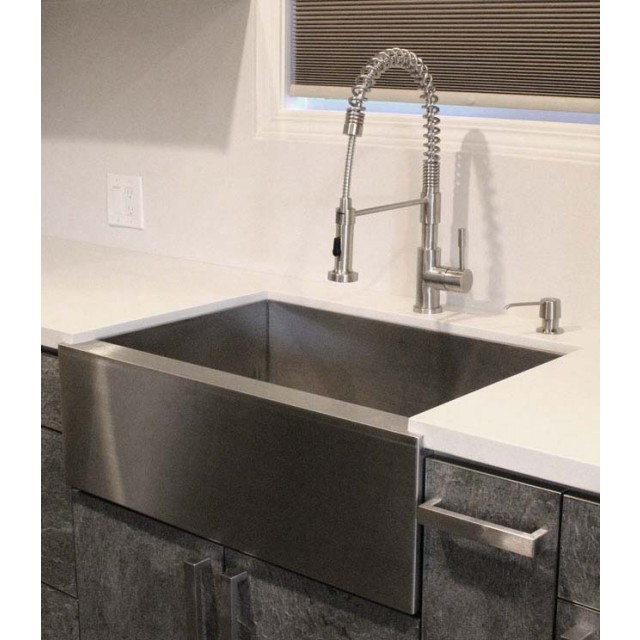 Flat Pack Stainless Steel Sinks : - 36 Stainless Steel Double Bowl 50 50 Apron Flat Front Kitchen Sink ...
