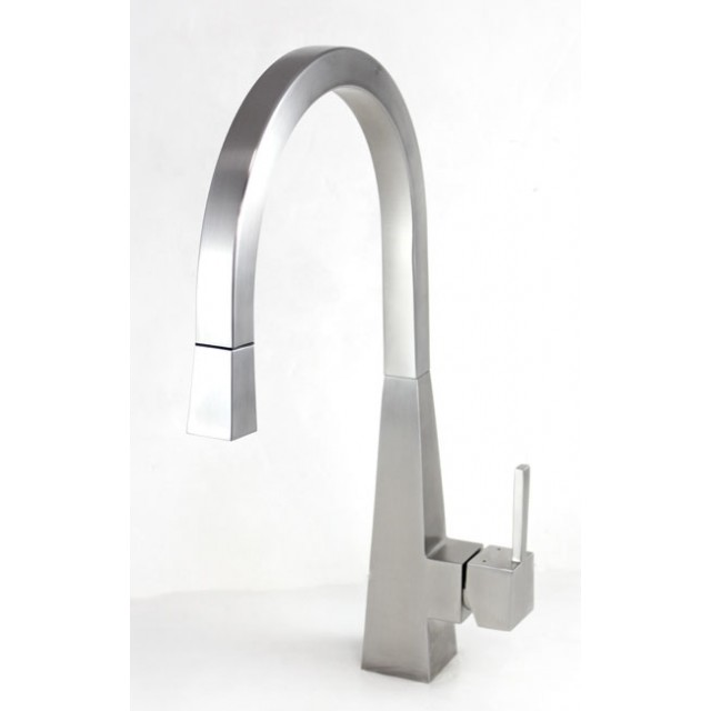 Ariel Imperial Design Lead Free Stainless Steel Single Hole Pull Rhemoderndecor: Kitchen Faucets With Pull Down Sprayer Stainles... At Home Improvement Advice