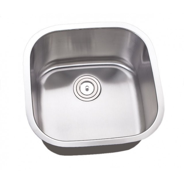 20 Inch Stainless Steel Undermount Single Bowl Kitchen Sink - 16