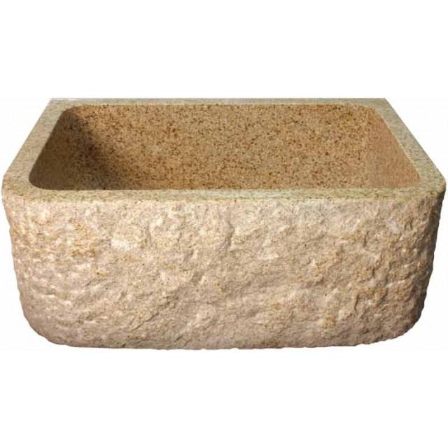 Rockwell Design Stone Granite Front Apron Farm Kitchen Sink   26 1/2 X 19 X  9 Inch