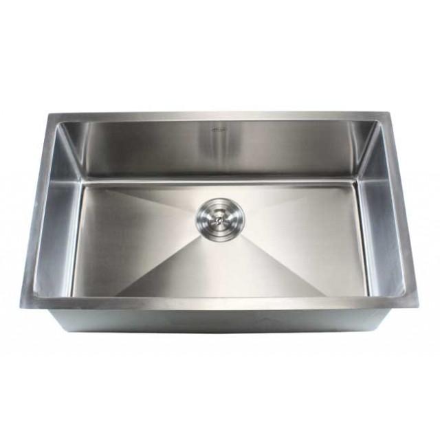 30 Inch Stainless Steel Undermount Single Bowl Kitchen Sink 15mm Radius  Design   16 Gauge