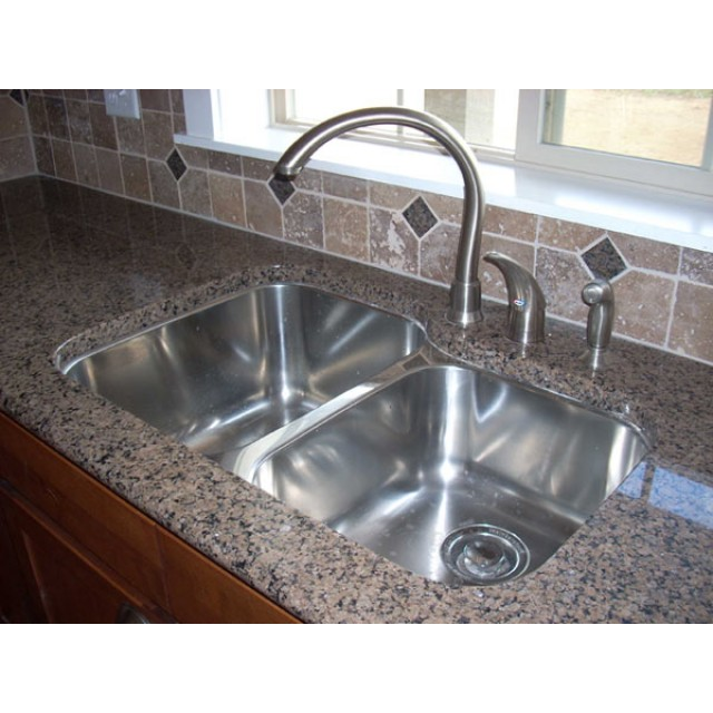 32 Inch Stainless Steel Double Bowl Kitchen Sink And Lead Free Faucet Combo 18 Gauge