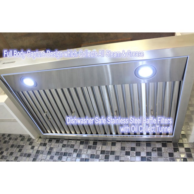 xtremeair 36 inch under cabinet stainless steel range hood r230 cfm 900