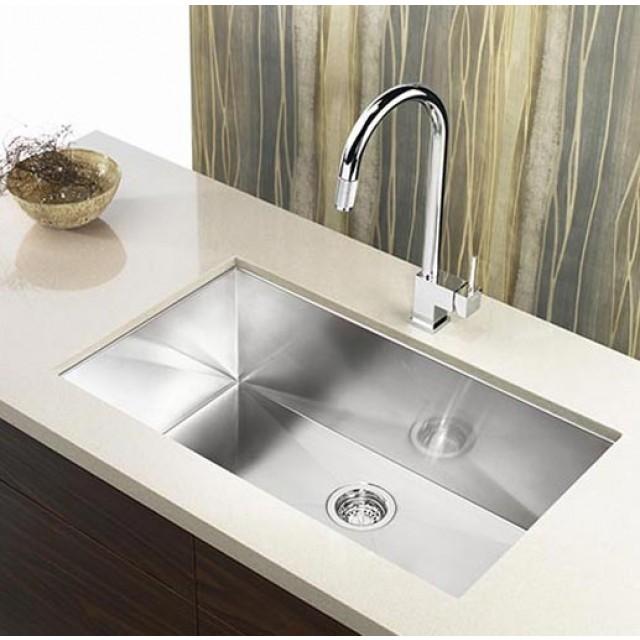 32 Inch Zero Radius Stainless Steel Undermount Single Bowl Kitchen ...