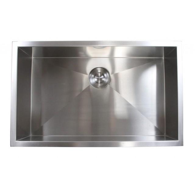 30 inch stainless steel undermount single bowl kitchen sink zero radius design 30 inch stainless steel undermount single bowl kitchen sink zero      rh   emoderndecor com