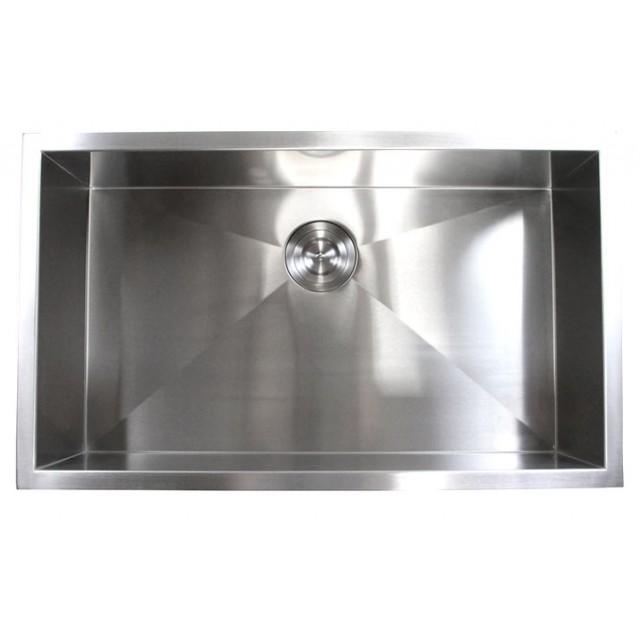 Metal Kitchen Sink 32 inch stainless steel undermount single bowl kitchen sink zero 32 inch stainless steel undermount single bowl kitchen sink zero radius design workwithnaturefo