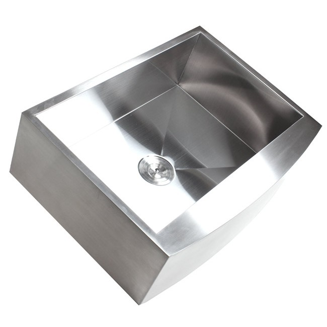 7 Inch Apron Front Sink : Inch Stainless Steel Single Bowl Curved Front Farm Apron Kitchen Sink ...