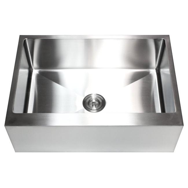 30 inch stainless steel flat front farm apron single bowl kitchen sink 15mm radius design 30 inch stainless steel flat front farm apron single bowl kitchen      rh   emoderndecor com