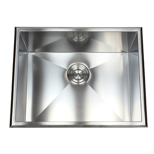 Drop-In Stainless Steel Single Bowl Kitchen / Utility / Laundry Sink ...