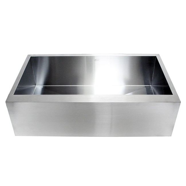 36 Inch Stainless Steel Single Bowl Flat Front Farm Apron Kitchen Sink
