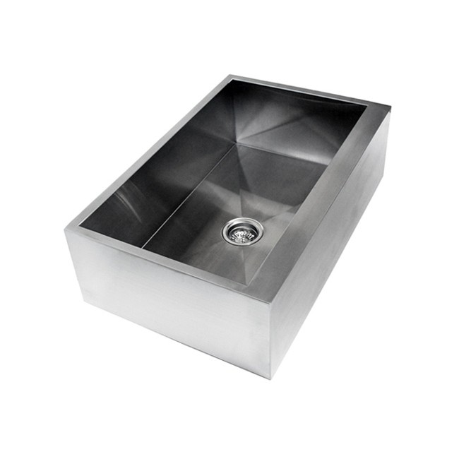 Farmhouse Sink 36 Inch White : 36 Inch Stainless Steel Single Bowl Flat Front Farmhouse Apron Kitchen ...
