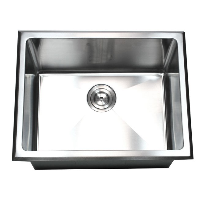 Amazing 23 Inch Drop In Stainless Steel Single Bowl Kitchen / Utility / Laundry Sink  15mm