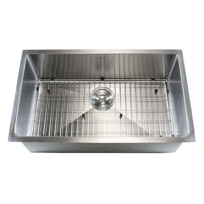 display gallery item 5     ariel 32 inch stainless steel undermount single bowl kitchen sink      rh   emoderndecor com