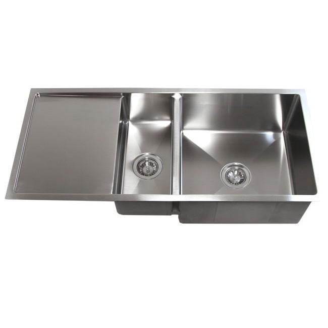 Undermount Kitchen Sink With Drainer 42 inch stainless steel undermount double bowl kitchen sink 15mm