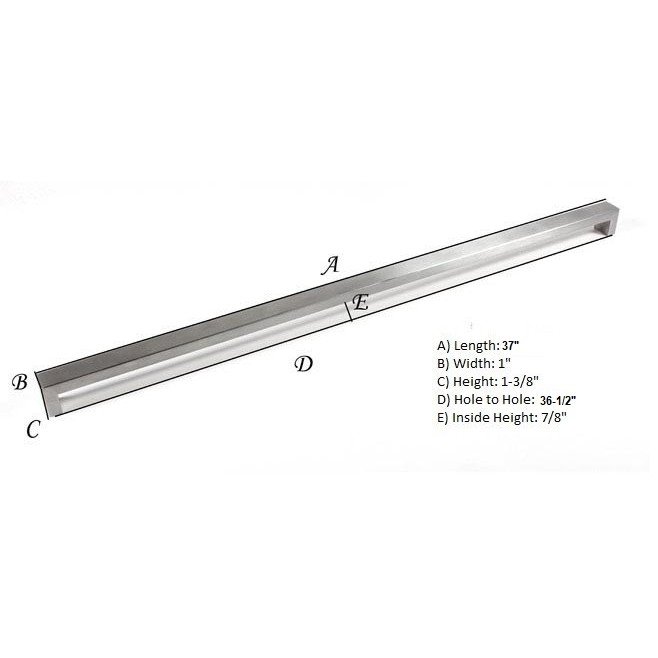 Brick Design 37 Inch Cabinet Stainless Steel Handle Bar Pull