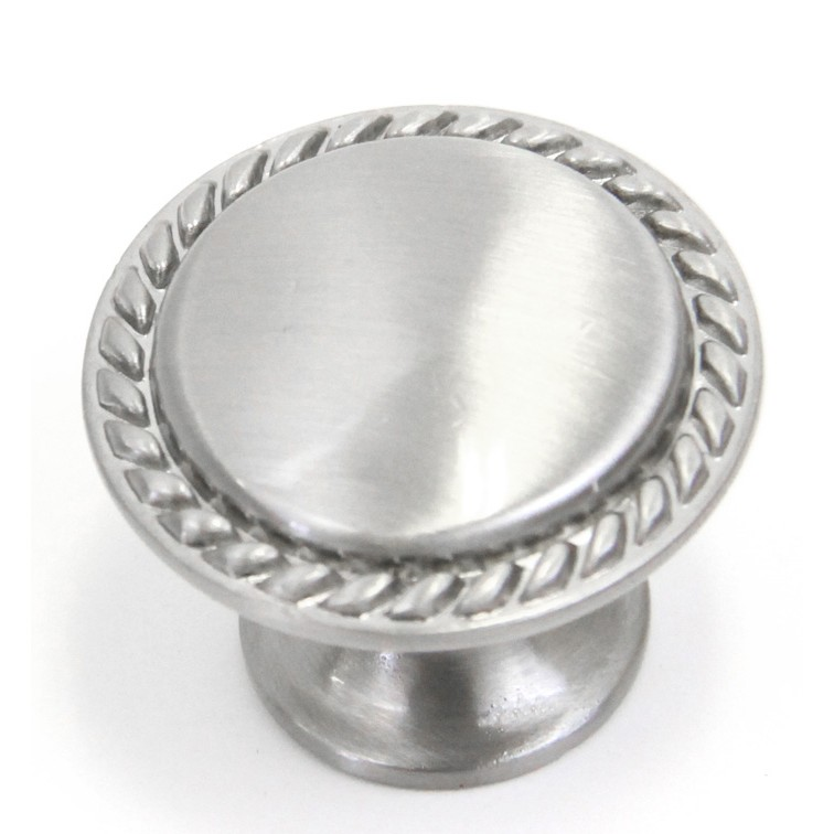 Attractive Bead Cabinet Pull Knob Brushed Nickel Finish