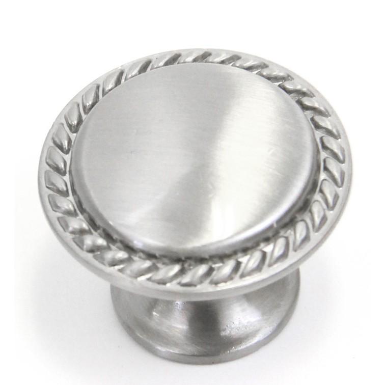 Brushed Nickel Kitchen Cabinet Knobs: Bead Cabinet Hardware Pull Knob Brushed Nickel Finish