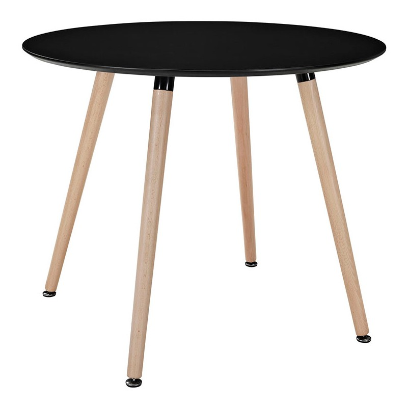 Eames style dsw white round dining table for Table eames dsw