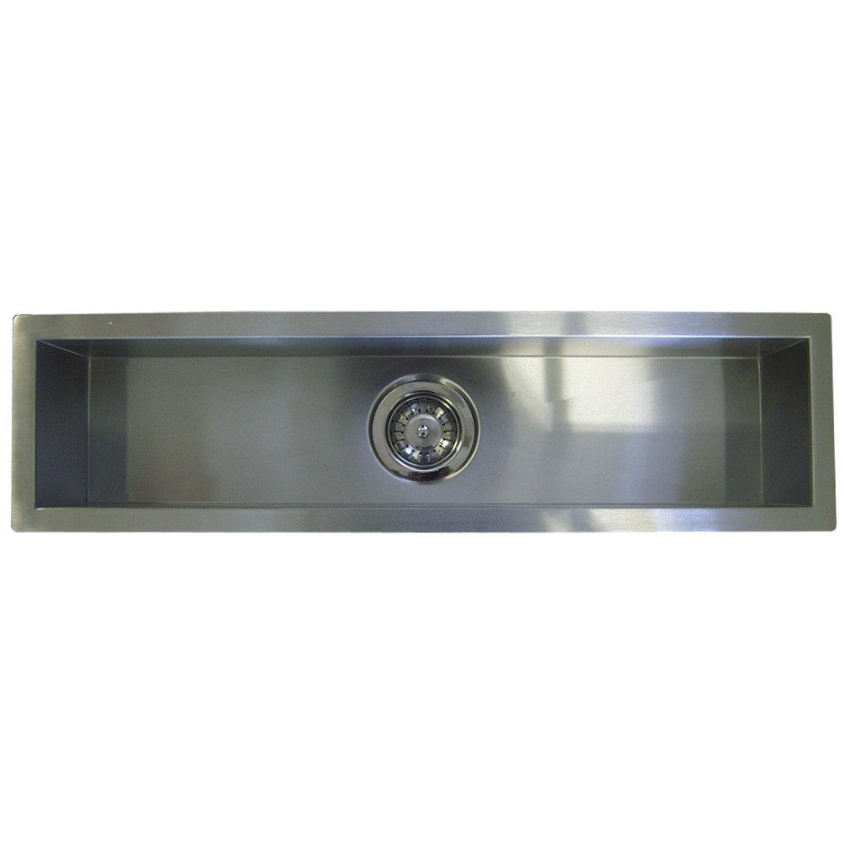 42 Inch Stainless Steel Undermount Single Narrow Bowl Kitchen / Bar / Prep  Sink Zero Radius