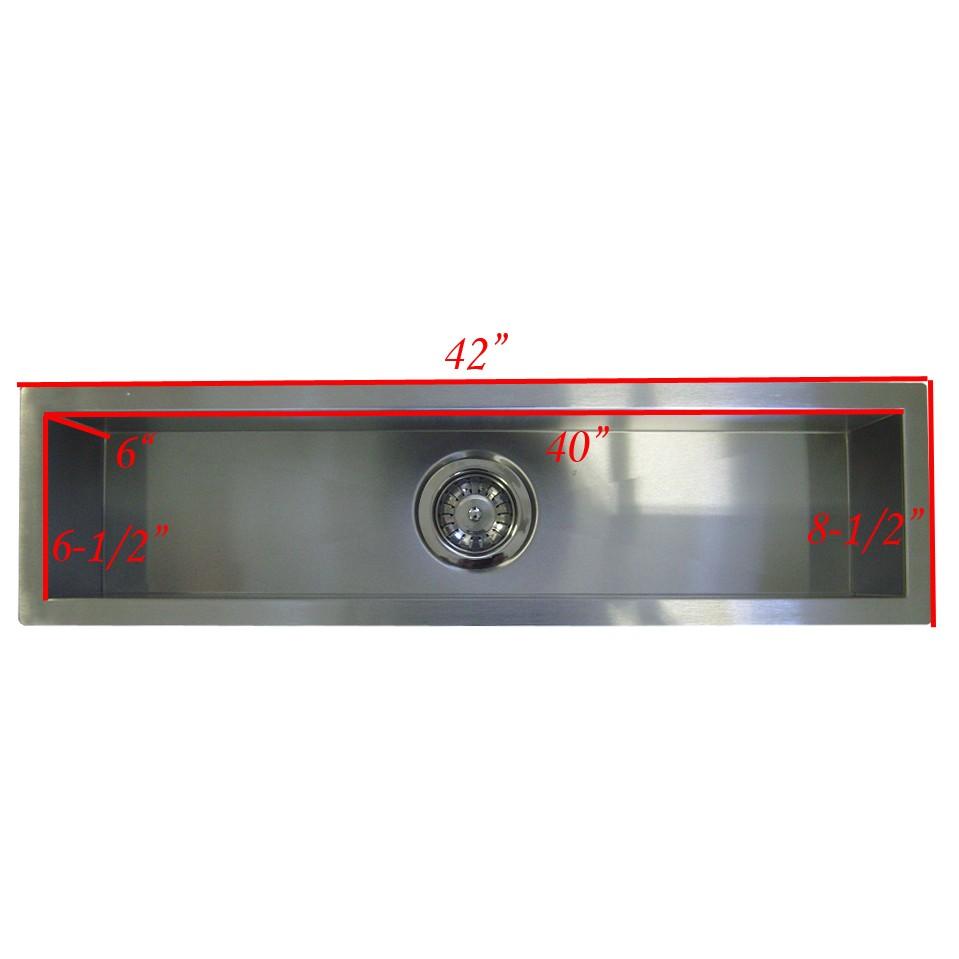 ... Undermount Single Bowl Kitchen / Bar / Prep Sink Zero Radius Design