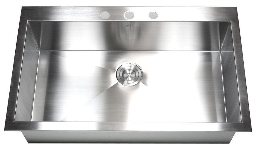 Kitchen Sink Model 36 inch top mount drop in stainless steel single super bowl 36 inch top mount drop in stainless steel single bowl kitchen sink zero radius design workwithnaturefo