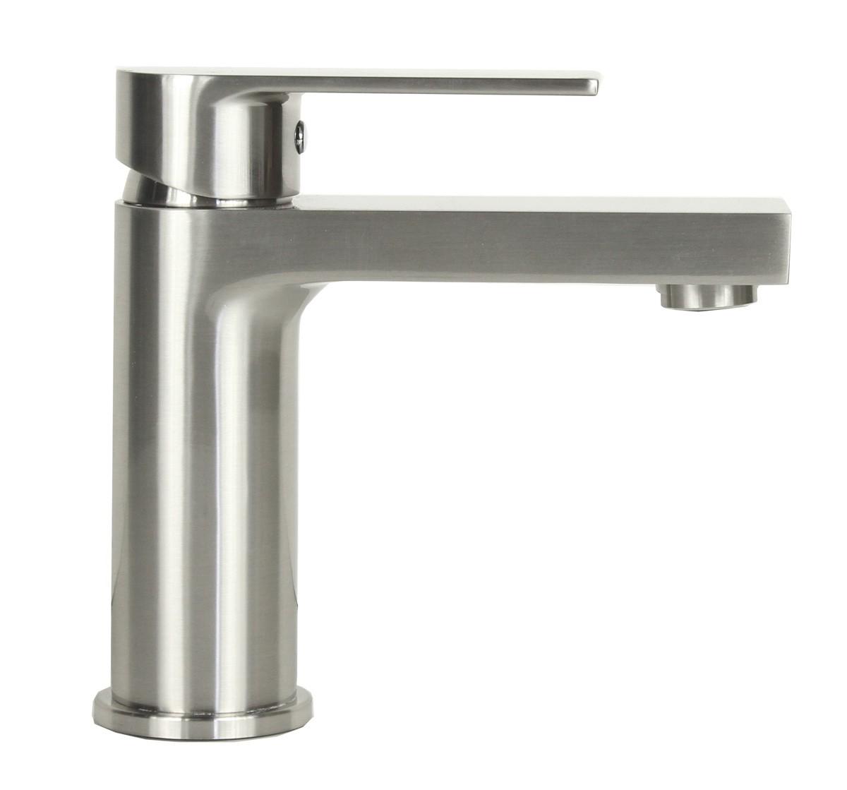 Anna Brushed Nickel Bathroom Vessel Sink Single Hole Faucet