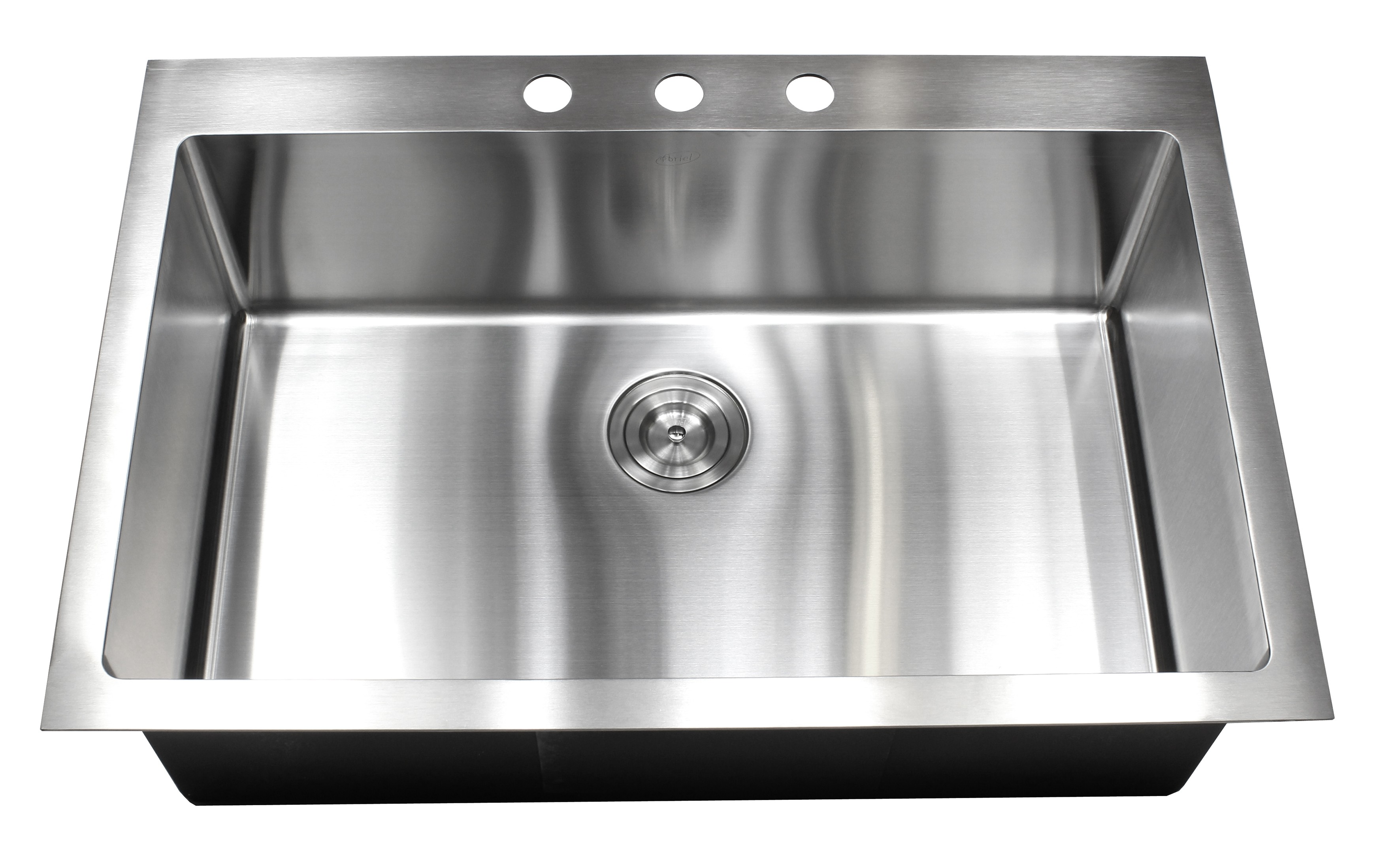 33 Inch Drop In Top Mount Stainless Steel Single Bowl Kitchen