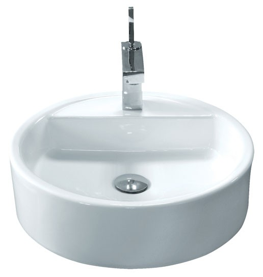 19 Round Bathroom Sink: Round Porcelain Ceramic Single Hole Countertop Bathroom