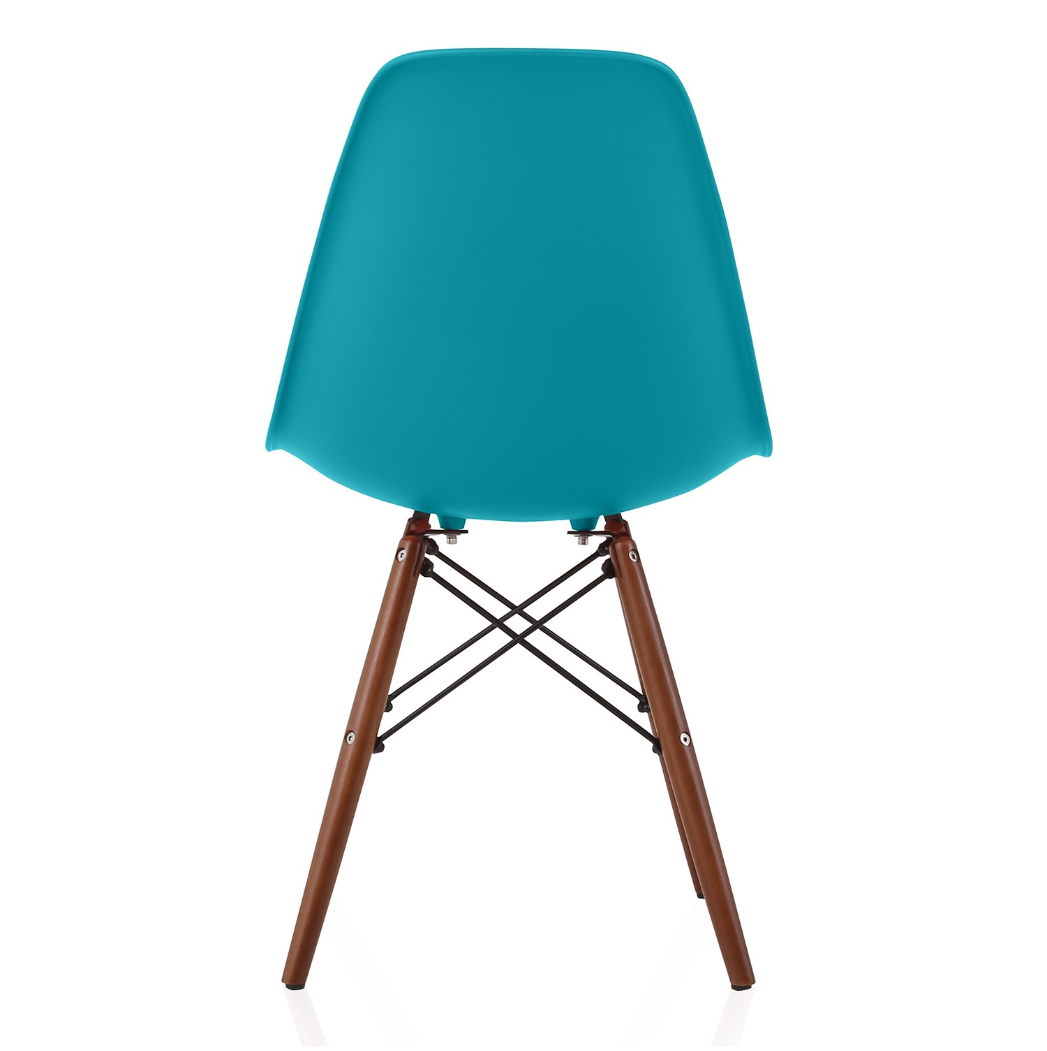 Nature Series Teal Blue Eames Style DSW Molded Plastic Dining Side