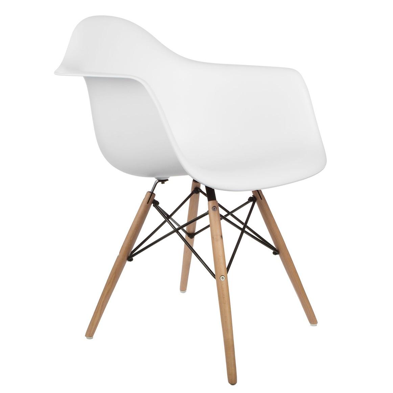 eames daw armchair white. set of 4 daw molded white plastic dining armchair with wood eiffel legs eames daw a
