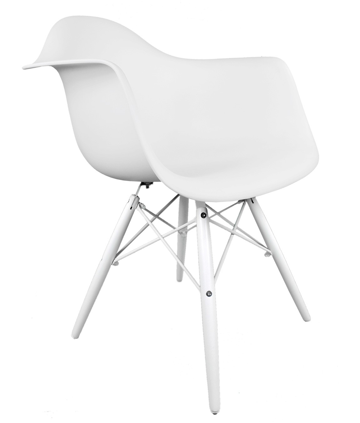 Regular Price   400 00Eames Style DAW Molded White Plastic Accent Arm Chair with White  . Eames Daw Chair Price. Home Design Ideas