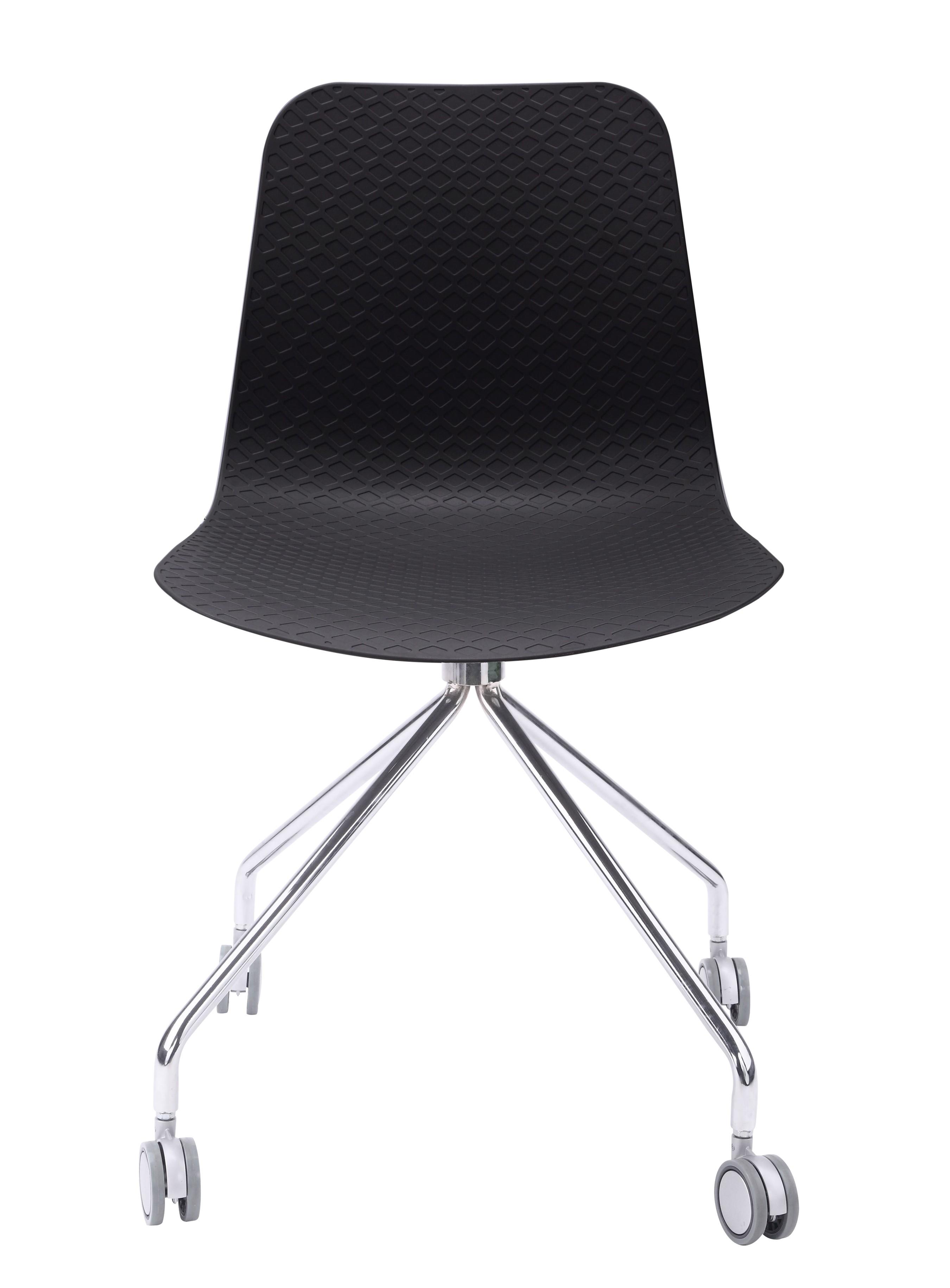 Hebe Series Black fice Chair Molded Plastic Designer Task Chair