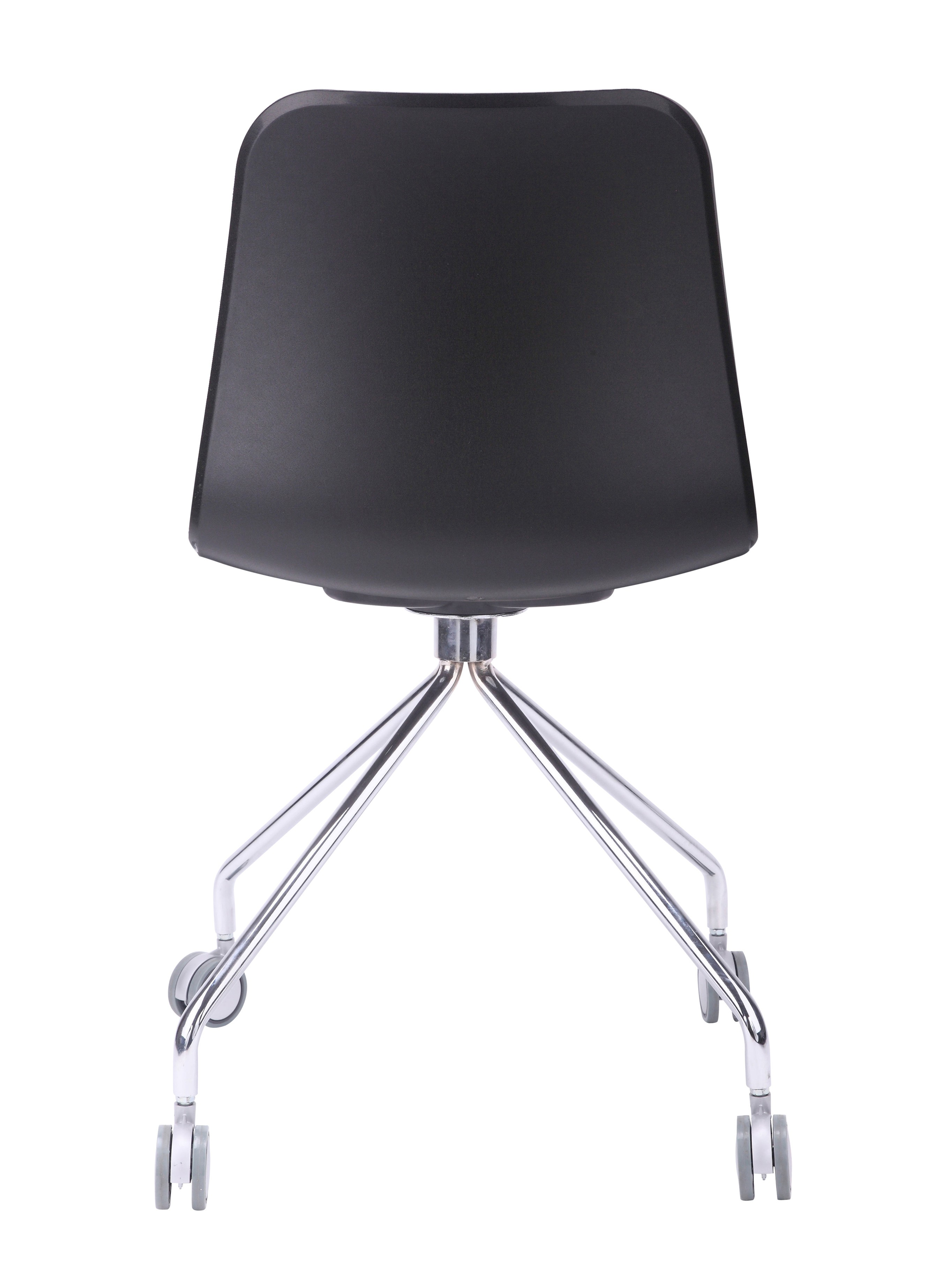 Hebe Series Black fice Chair Molded Plastic Designer Task Chair