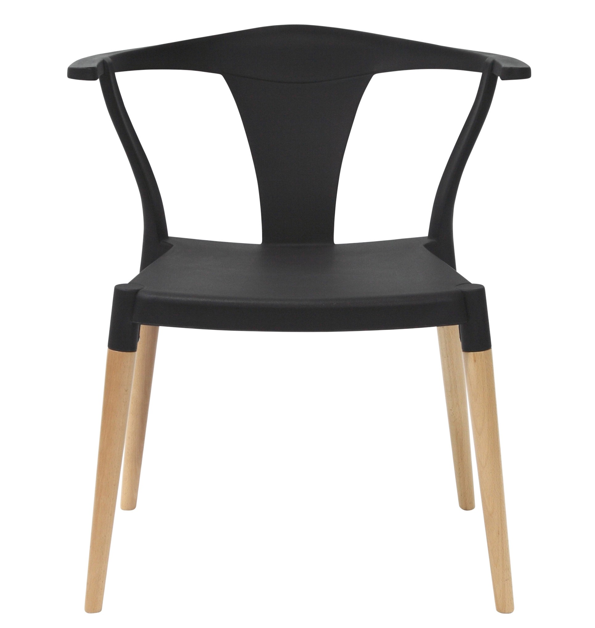 Dining Arm Chairs Black Design: Icon Series Black Modern Accent Dining Arm Chair Beech