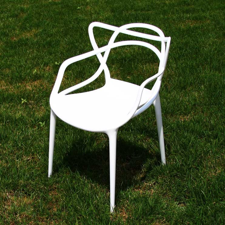 Designer Modern Masters Dining Chair In White