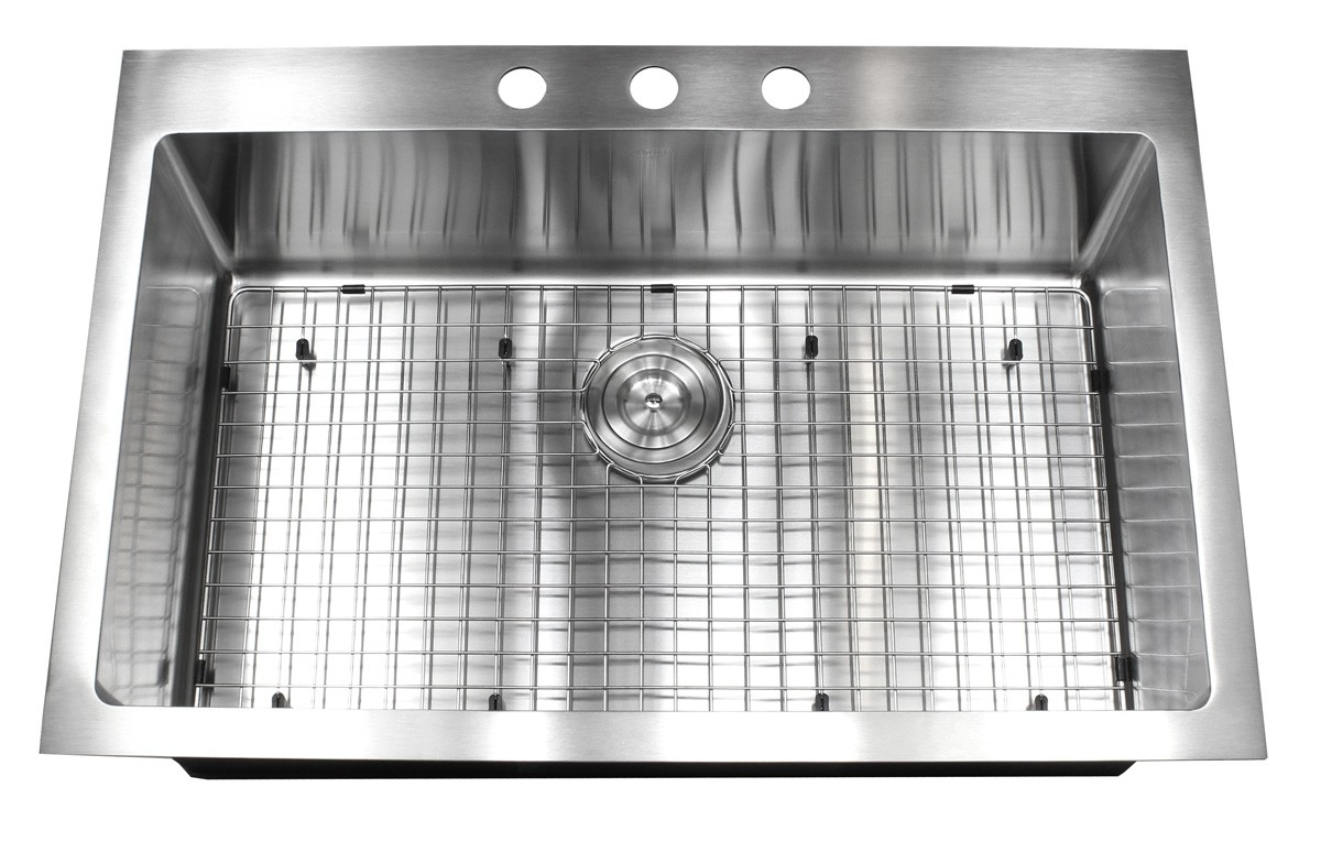 with your purchase receive at no cost  33 inch top mount   drop in stainless steel single bowl kitchen      rh   emoderndecor com