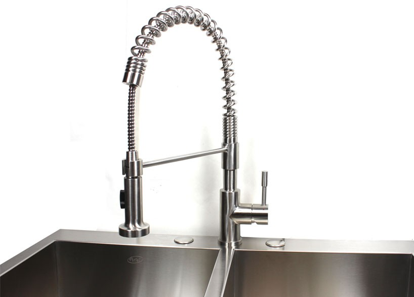 down asaro faucet faucets pull with pin kitchen spout spring