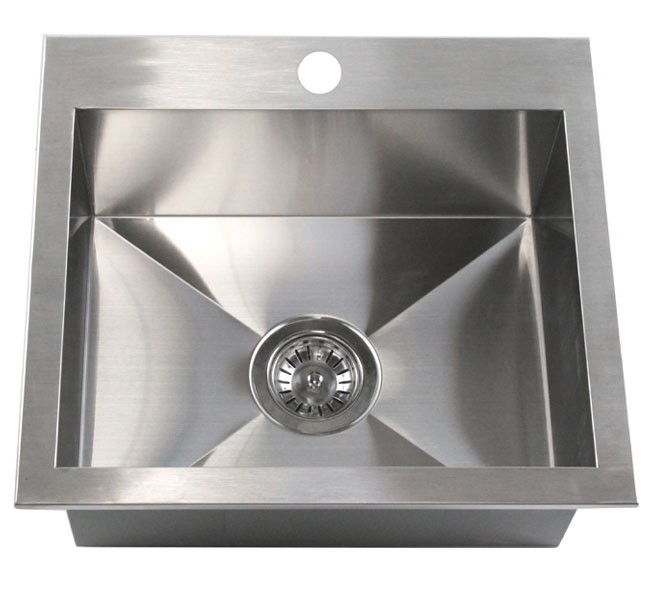 19 Inch Top-Mount / Drop-In Stainless Steel Single Bowl