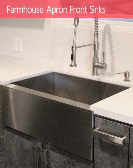 shop by category stainless steel kitchen sinks - Apron Kitchen Sinks