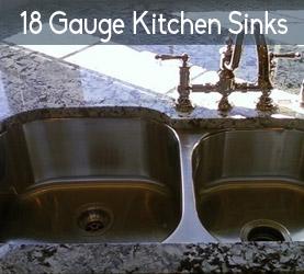 18 Gauge Stainless Steel Kitchen Sinks
